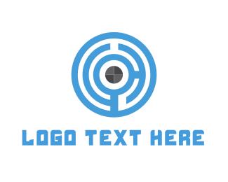Secure - Maze Target logo design