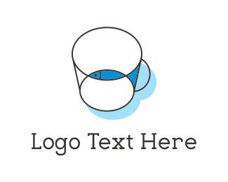Cup - Fish & Cup logo design