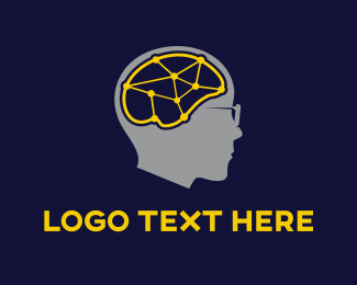 Neural Networks - Brain Connections logo design
