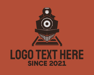 Railway - Black Train logo design