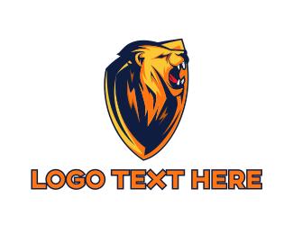 Roar - Lion Shield Gaming logo design