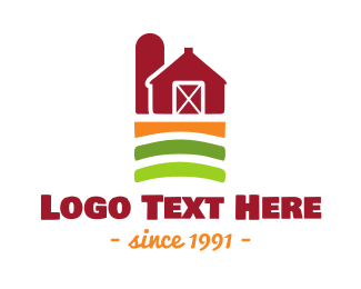 Farmer - Farm Barn logo design