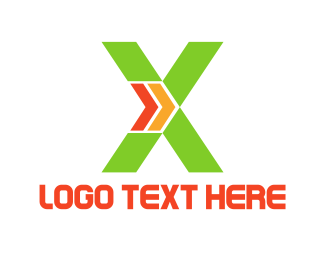 Trucking Company - Green X logo design