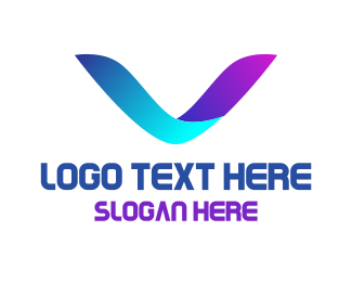 """Neon Letter V"" by eightyLOGOS"