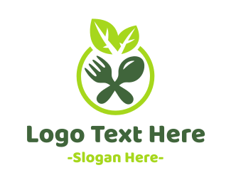 Healthy - Eco Salad logo design