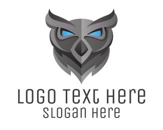 Heavy Metal - Owl Skull logo design
