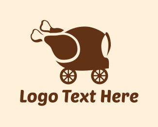 Roast - Chicken Delivery logo design