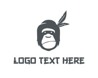 Gorilla - Grey Gorilla logo design