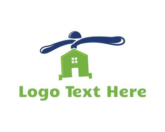 Blade - Flying House logo design