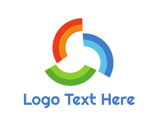 Design Firm - Rainbow Pattern Trio logo design