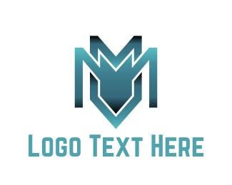 Antivirus - Industrial Letter M logo design
