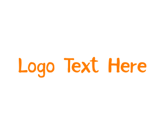 Handwritten - Orange & Handwritten logo design