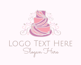 Bake - Wedding Cake logo design