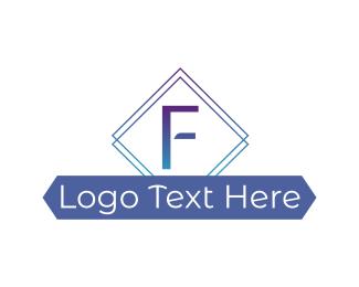 Fancy - Fancy F Diamond logo design