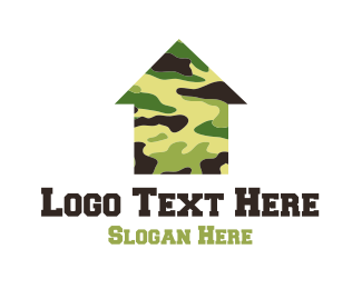 Camouflage - Military Housing logo design