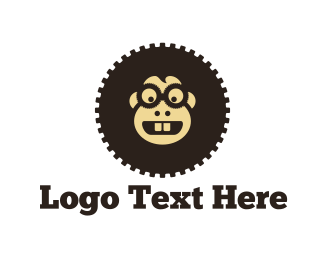 Monkey - Gear Monkey  logo design