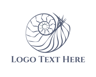 Snail - Grey Shell  logo design
