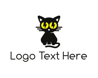 Cat - Bolt Cat logo design