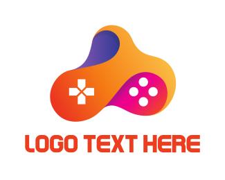 Multicolor - Multicolored Fluid Controller logo design