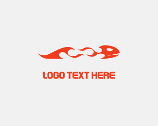 Tongue - Flame Fish logo design