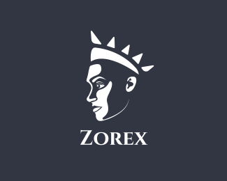 Man Profile Queen Profile logo design