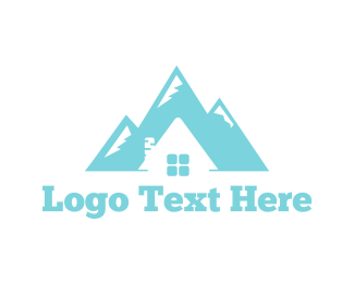 House - Mountain House logo design