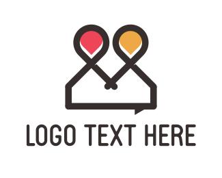 Spot - Chat Point logo design