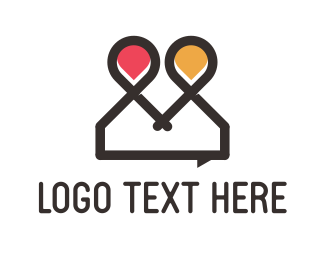 Meetup - Chat Point logo design