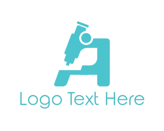Microscope - Blue Microscope logo design
