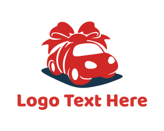 Red Car - Gift Car logo design