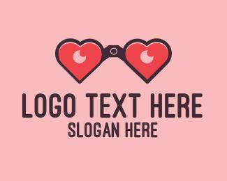 Binocular - Love Vision logo design