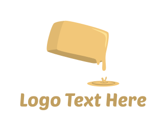Cream - Butter Melt  logo design