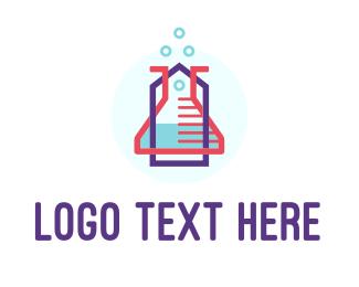 Online Shop - Lab Tools logo design