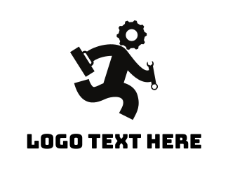 Repairman - Gear Head logo design