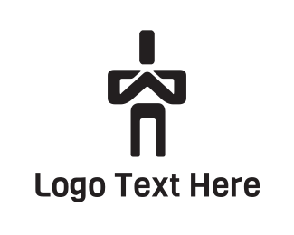 Religious - Praying Man Character logo design