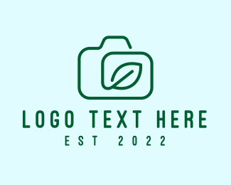 Hobby - Camera Leaf Outline logo design