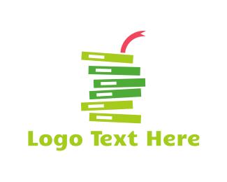Serpent - Green Book Snake  logo design