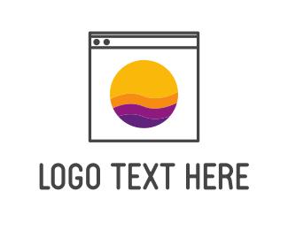 Orange And Purple - Washing Machine logo design