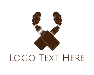 Ejuice - Vape X logo design
