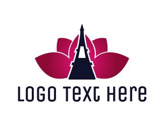 Eiffel - Eiffel Lotus logo design