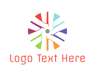 Fan - Colorful Turbine logo design