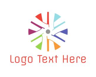Blade - Colorful Turbine logo design