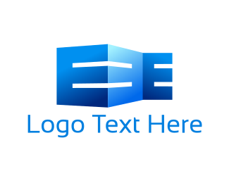 Geometric - Building Letter E logo design