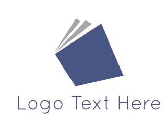 Novel - Blue Book logo design