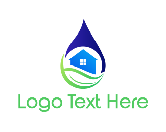 Drinking Water - Water House logo design