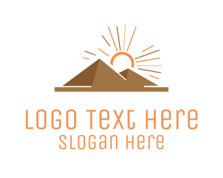 Ancient - Egyptian Pyramids logo design