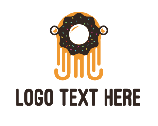 Food Chain - Octo Donut  logo design