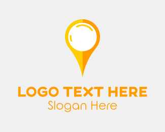 Location - Yellow Pin logo design