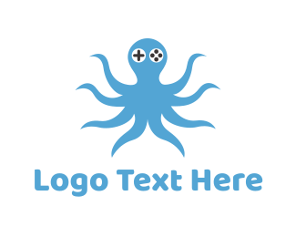 Joystick - Octopus Gamer logo design