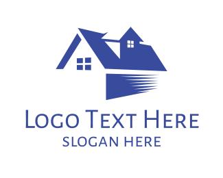 Dark Blue - Blue Fast House logo design